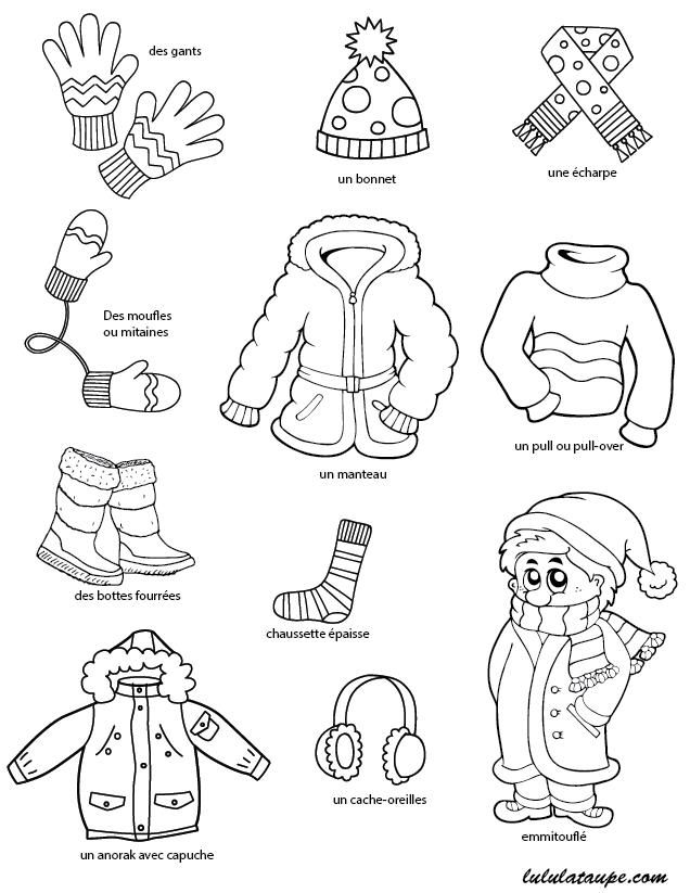 Imagier li l 39 hiver les v tements lulu la taupe jeux gratuits pour - Les vetements d hiver ...