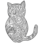 Coloriage antistress à imprimer, un chat.
