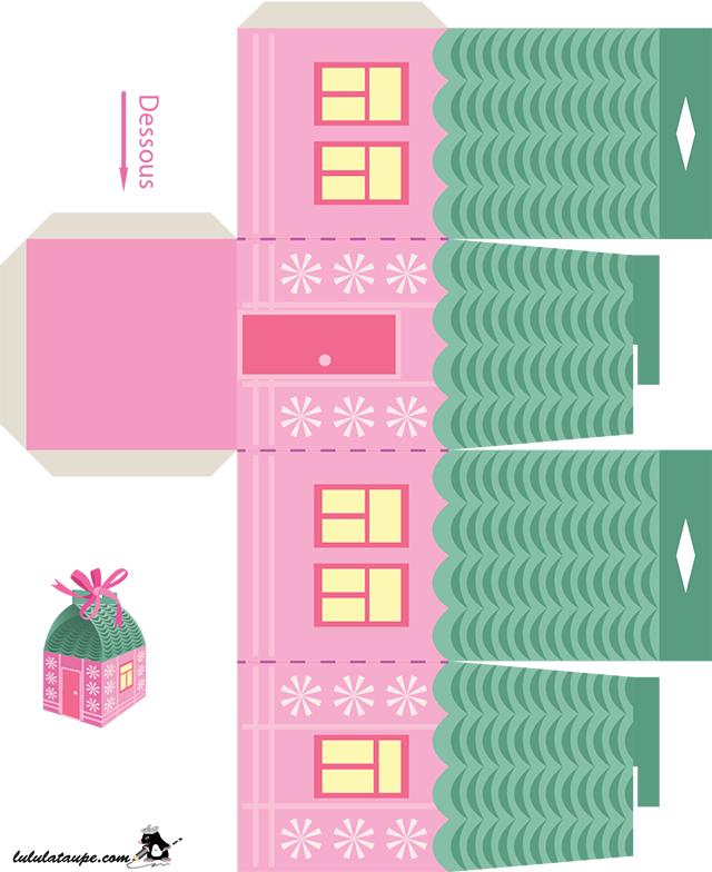 Bo te en forme de maison imprimer lulu la taupe jeux gratuits pour enfants - Decoupage maison a imprimer ...