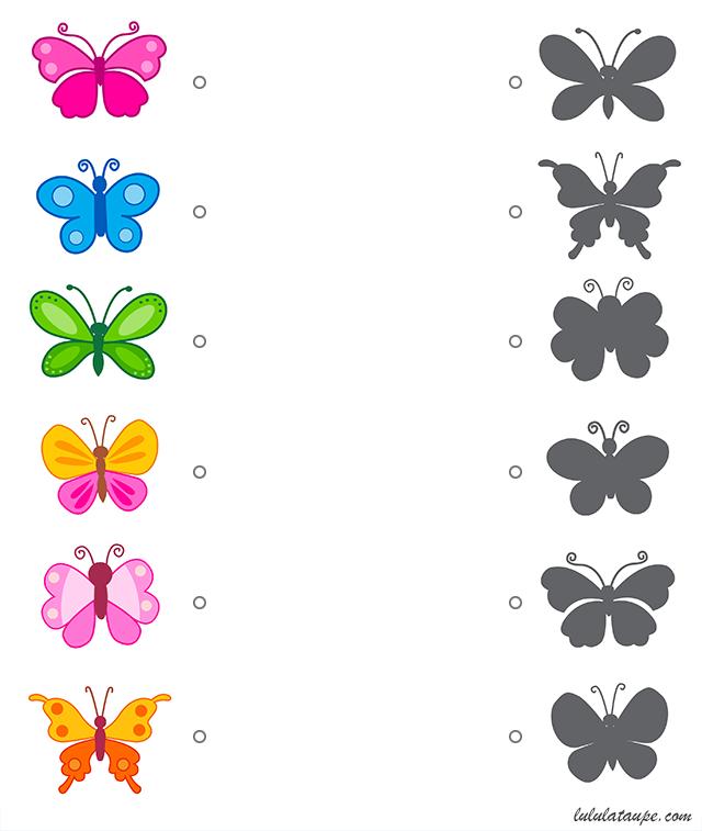 jeu des ombres les papillons lulu la taupe jeux. Black Bedroom Furniture Sets. Home Design Ideas