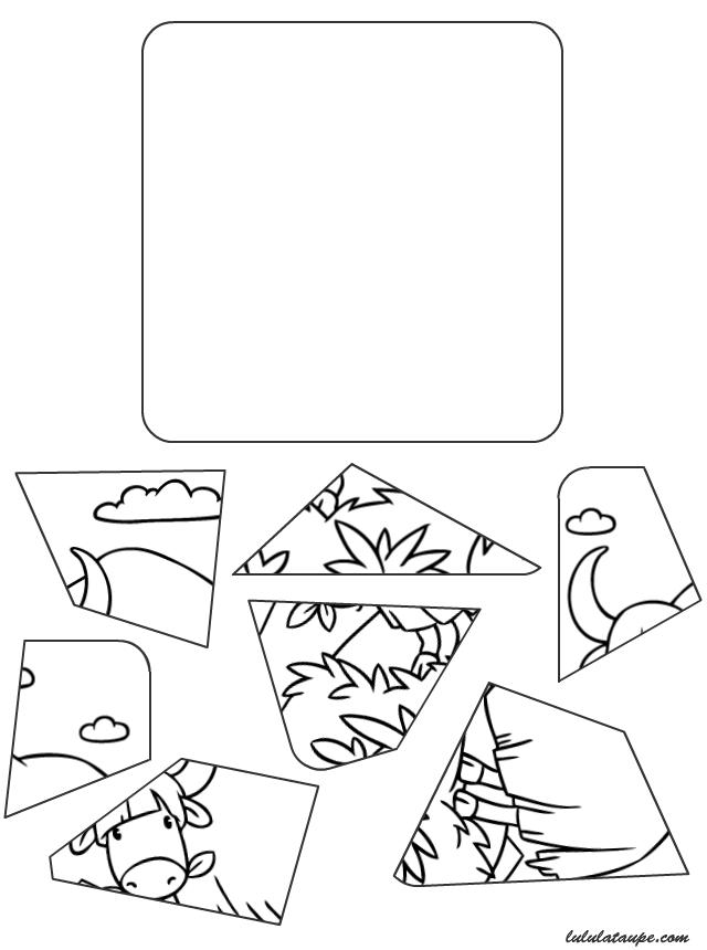 Puzzle imprimer et d couper lulu la taupe jeux for Puzzle a colorier gratuit