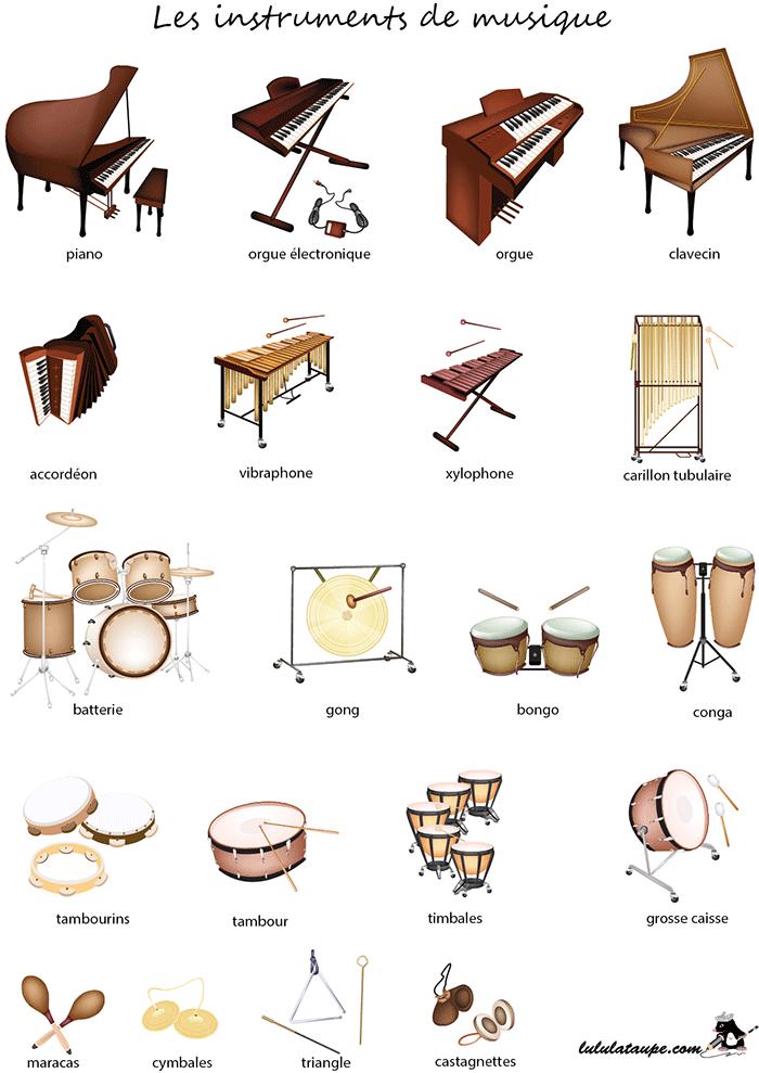 Fabuleux Fiche pédagogique à imprimer, les instruments de musique - Lulu la  VZ11