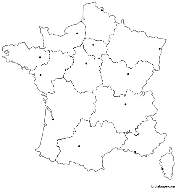 carte-de-france-vierge - Photo