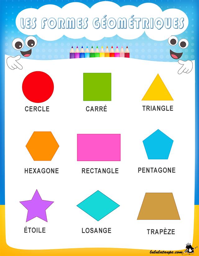 Les formes g om triques lulu la taupe jeux gratuits - Coloriage des formes geometriques ...