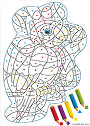 Coloriages Codés Lulu La Taupe Jeux Gratuits Pour Enfants