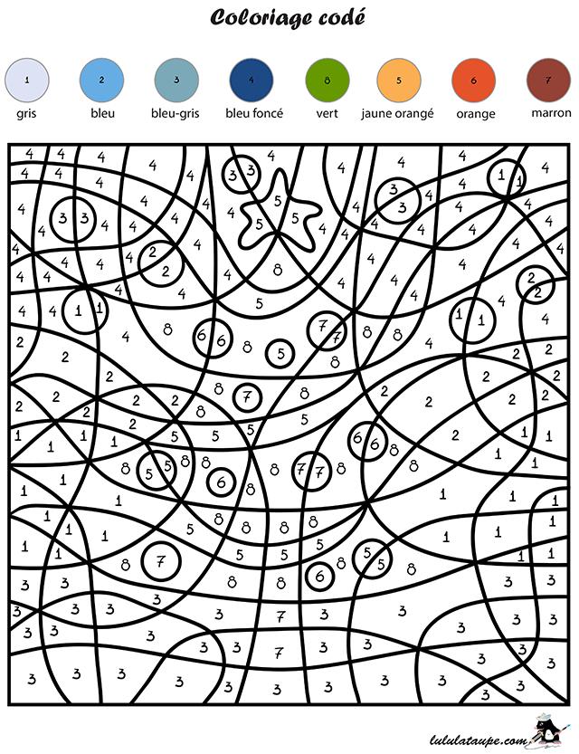 Coloriage cod les chiffres un sapin lulu la taupe - Coloriage avec des chiffres ...