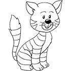 Coloriage un chat assis