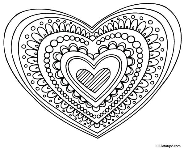 coloriage adulte coeur