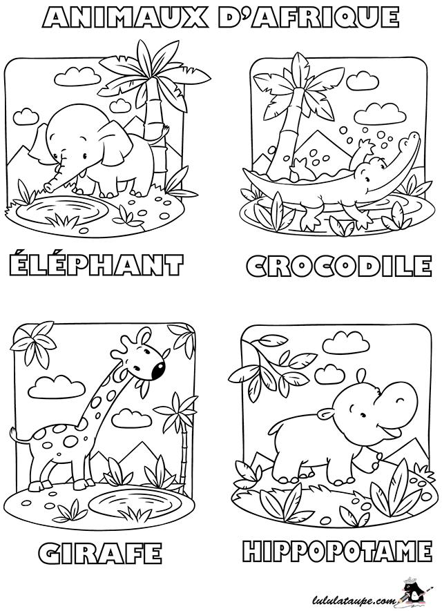 Coloriage gratuit les animaux d 39 afrique lulu la taupe jeux gratuits pour enfants - Coloriage afrique a imprimer ...