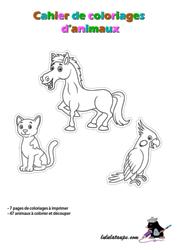 Cahier de coloriage gratuit les animaux lulu la taupe - Cahier de coloriage gratuit ...