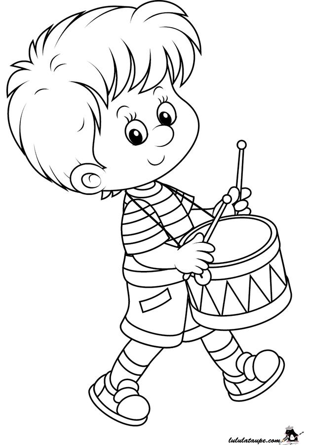 coloriage un gar on qui joue du tambour lulu la taupe jeux gratuits pour enfants. Black Bedroom Furniture Sets. Home Design Ideas