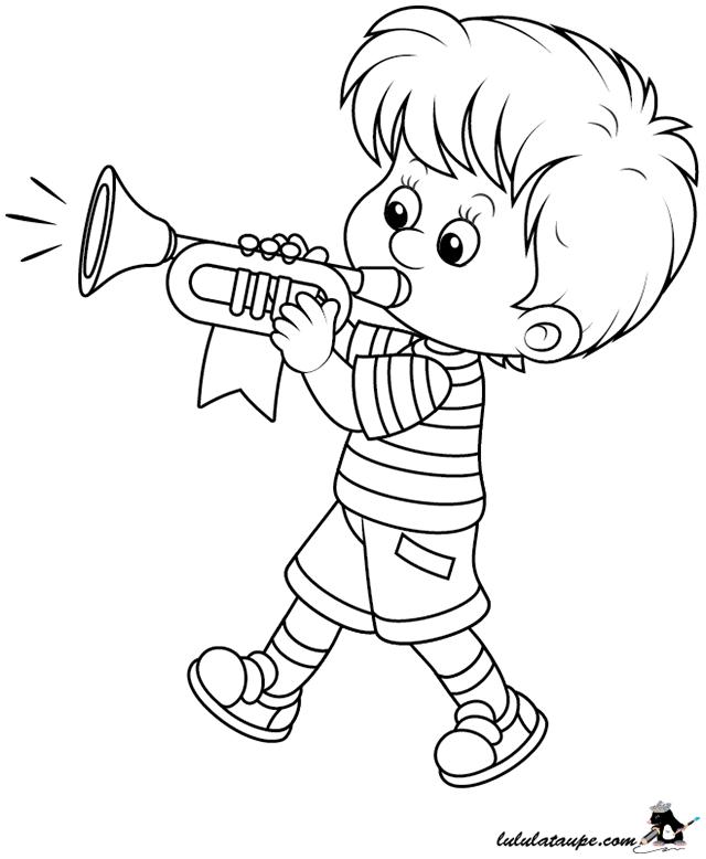 Coloriage un gar on trompettiste lulu la taupe jeux - Coloriage virtuel ...