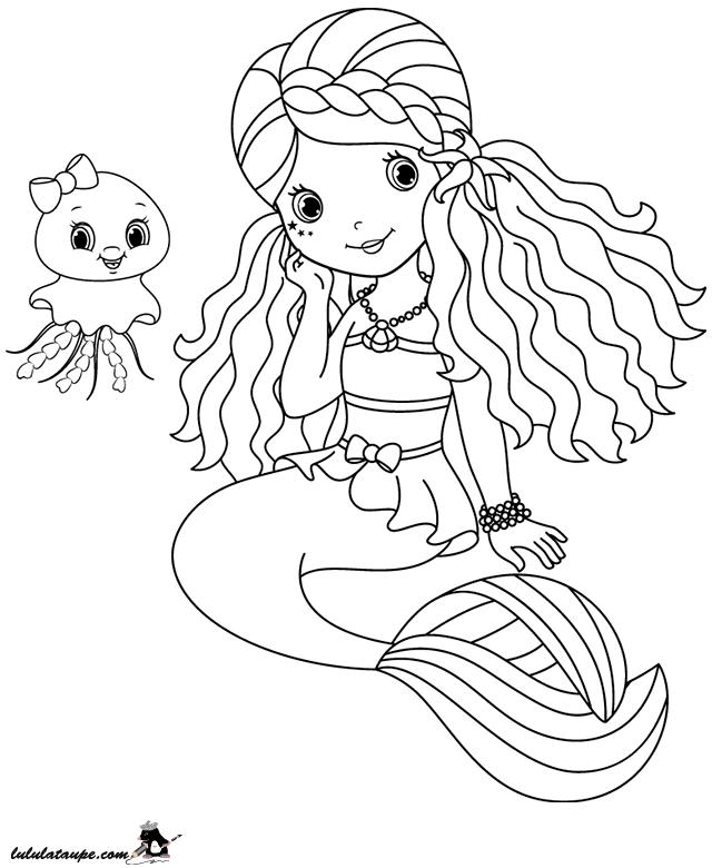 Coloriage A Imprimer Une Sirene Lulu La Taupe Jeux Gratuits Pour Enfants
