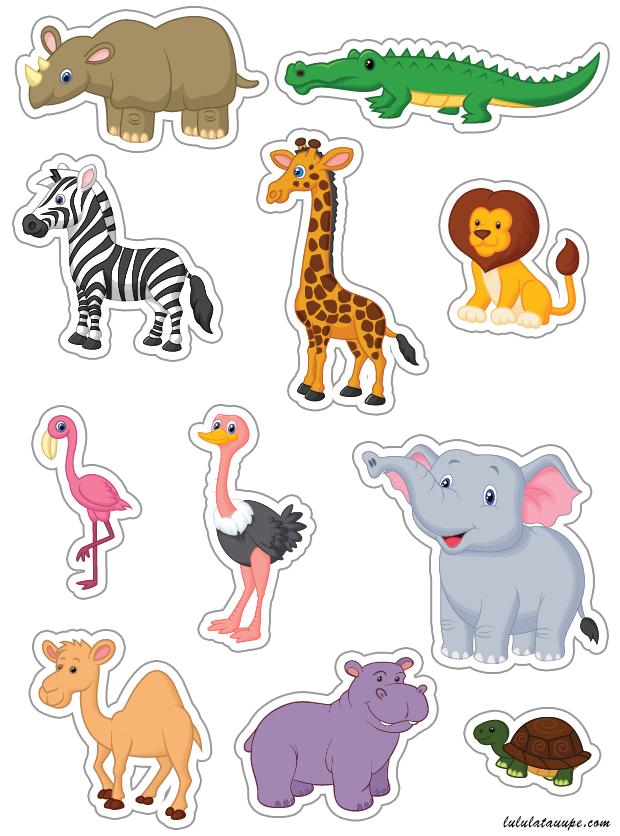 Animaux d 39 afrique d couper lulu la taupe jeux gratuits pour enfants - Decoupage maison a imprimer ...
