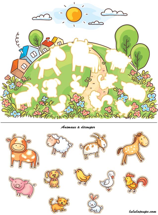 Animaux de la ferme d couper et coller lulu la taupe jeux gratuits pour enfants - Coloriage a decouper ...