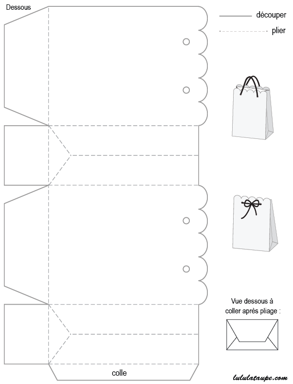 Gabarit de bo te imprimer et d corer lulu la taupe jeux gratuits pour enfants - Gabarit boite en papier ...