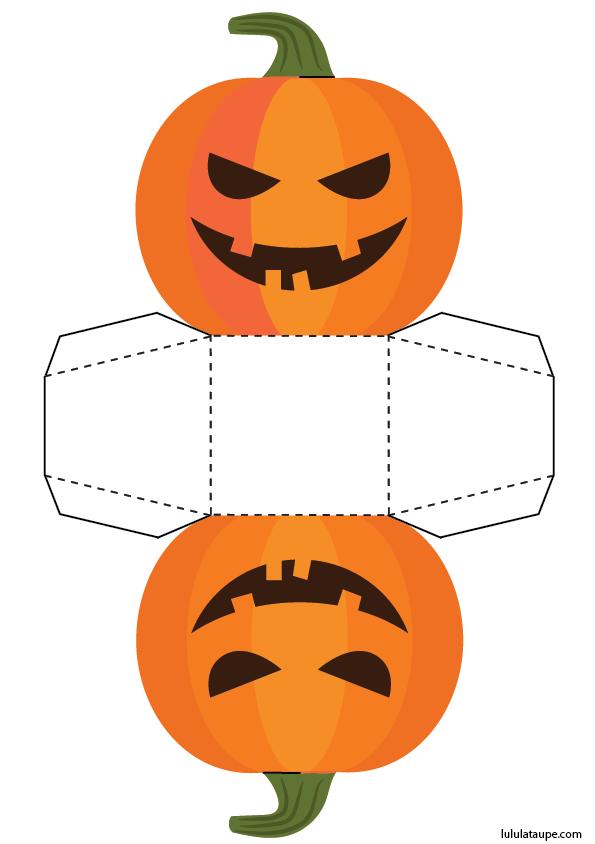 Bo te en forme de citrouille d 39 halloween d couper lulu la taupe jeux gratuits pour enfants - Citrouille halloween en papier ...