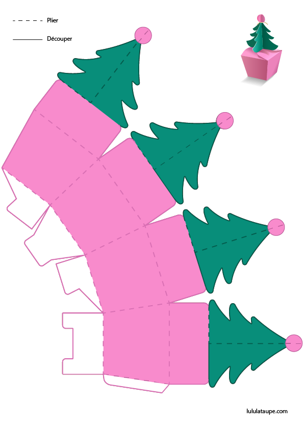 Découpage Boîte Sapin De Noël Lulu La Taupe Jeux