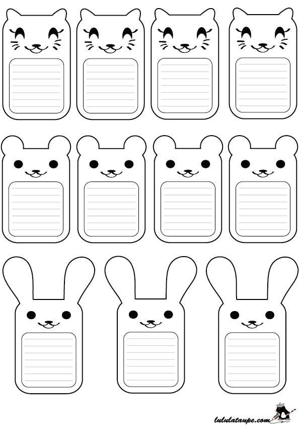 Cartes animaux à colorier et découper - Lulu la taupe, jeux gratuits ...