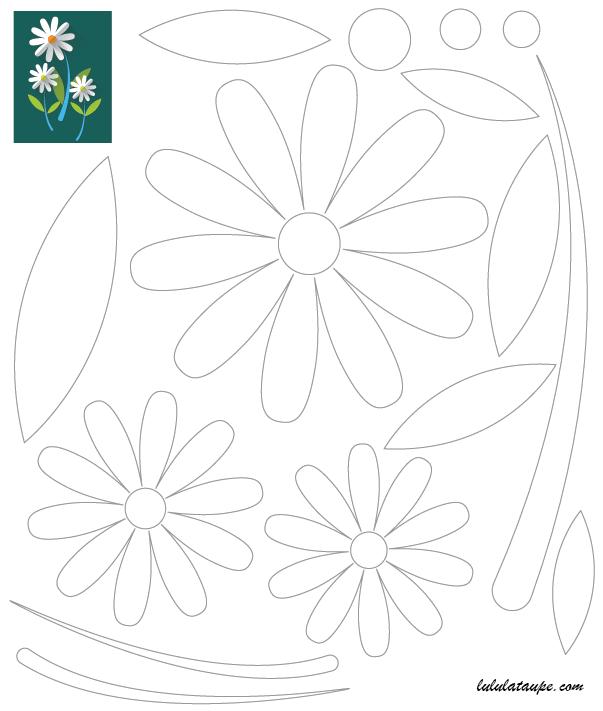 D coupage collage un bouquet de fleurs lulu la taupe - Decoupage collage a imprimer ...