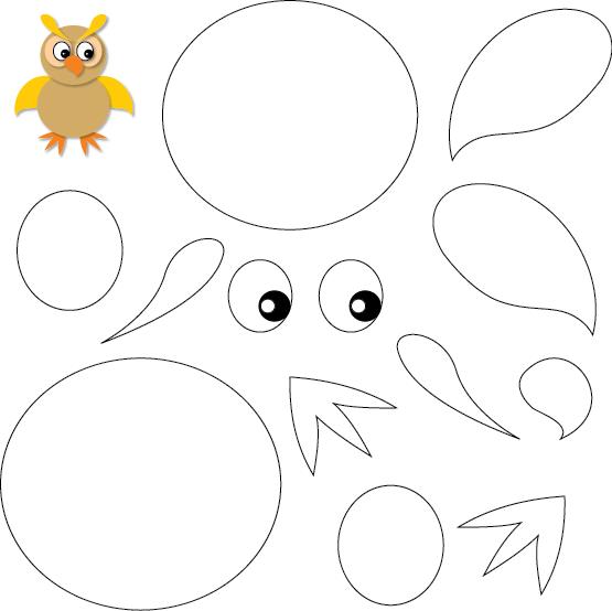activit manuelle un hibou colorier puis d couper lulu la taupe jeux gratuits pour enfants. Black Bedroom Furniture Sets. Home Design Ideas