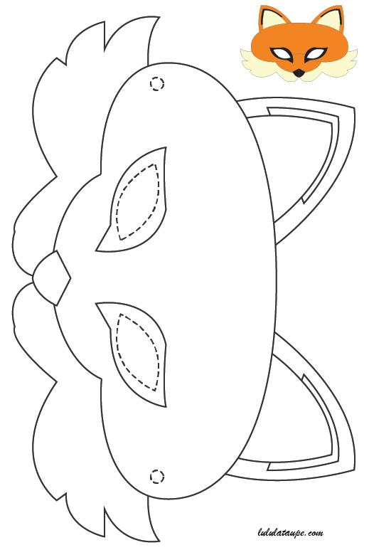 Masque de renard imprimer et d couper lulu la taupe jeux gratuits pour enfants - Masque de renard a imprimer ...