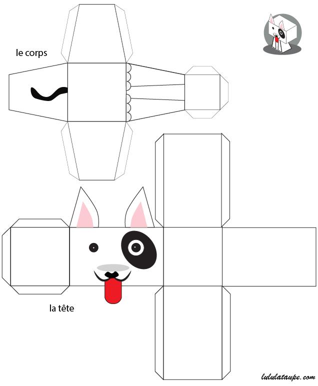 Mod le de chien en papier d couper lulu la taupe jeux gratuits pour enfants - Maison papier a decouper ...