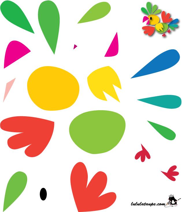 Célèbre Oiseau à imprimer et à découper - Lulu la taupe, jeux gratuits  DV77