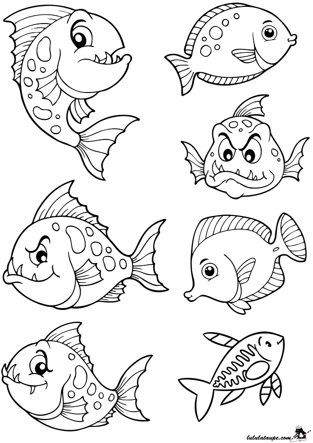 Poissons d 39 avril d couper lulu la taupe jeux gratuits pour enfants - Dessin poisson d avril rigolo ...