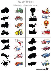 Jeux des ombres - Lulu la taupe, jeux gratuits pour enfants
