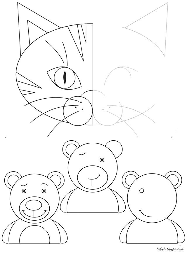 Célèbre Compléter les dessins, activité à imprimer - Lulu la taupe, jeux  HC98
