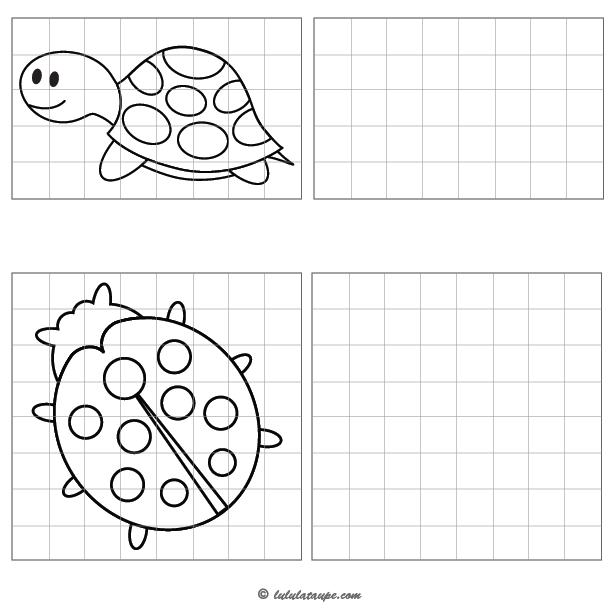 Dessiner une tortue et une coccinelle lulu la taupe - Dessiner une coccinelle ...