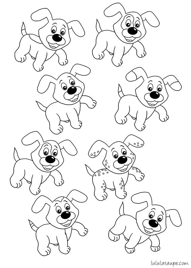 Trouver des chiens identiques - Lulu la taupe, jeux gratuits pour ...