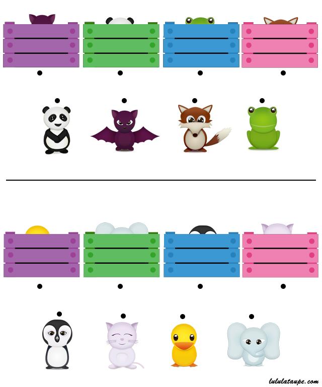 Les animaux cach s jeu imprimer en couleurs lulu la taupe jeux gratuits pour enfants - Animaux a imprimer en couleur ...