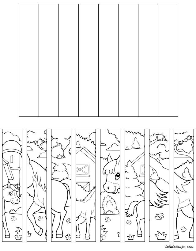 Puzzle imprimer et d couper les chevaux lulu la for Puzzle a colorier gratuit