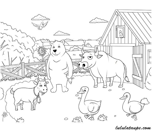Qui vit o les animaux de la ferme lulu la taupe jeux - Dessin de tous les animaux ...