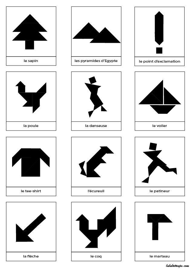 silhouettes de dessins pour tangram imprimer lulu la taupe jeux gratuits pour enfants. Black Bedroom Furniture Sets. Home Design Ideas