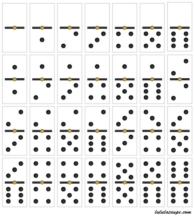 Jeu de dominos imprimer lulu la taupe jeux gratuits - Coloriage domino ...