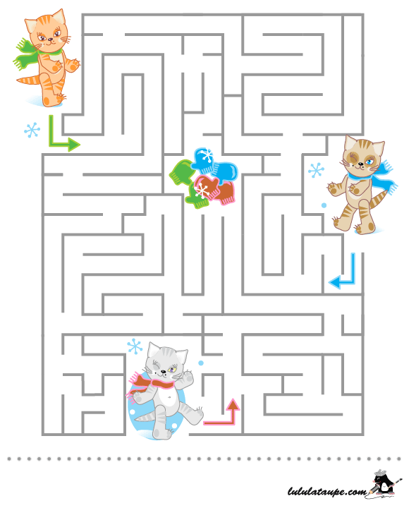 Labyrinthe gratuit imprimer les chatons lulu la taupe - Jeux labyrinthe a imprimer ...