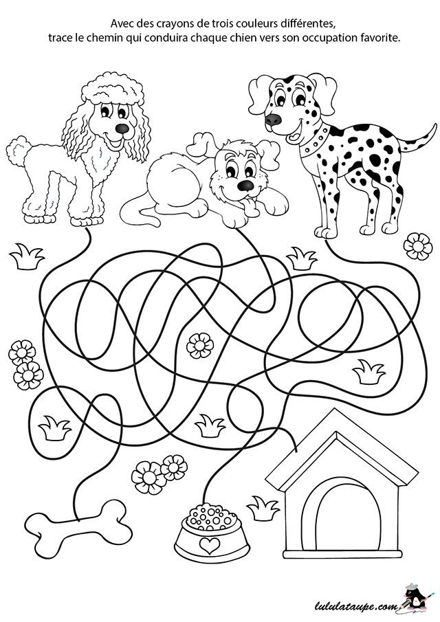 Jeu de labyrinthe gratuit les chiens lulu la taupe - Jeux labyrinthe a imprimer ...