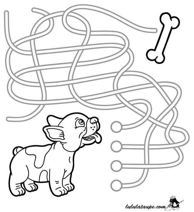 Jeu ducatif labyrinthe imprimer lulu la taupe jeux - Jeux labyrinthe a imprimer ...