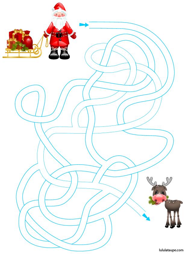 Jeux Pere Noel Labyrinthe du Père Noël   Lulu la taupe, jeux gratuits pour enfants