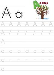 Apprendre à écrire Les Lettres De L Alphabet Majuscules Et