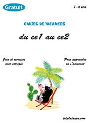 Cahier De Vacances Gratuit A Imprimer Du Ce1 Au Ce2 Lulu La Taupe Jeux Gratuits Pour Enfants
