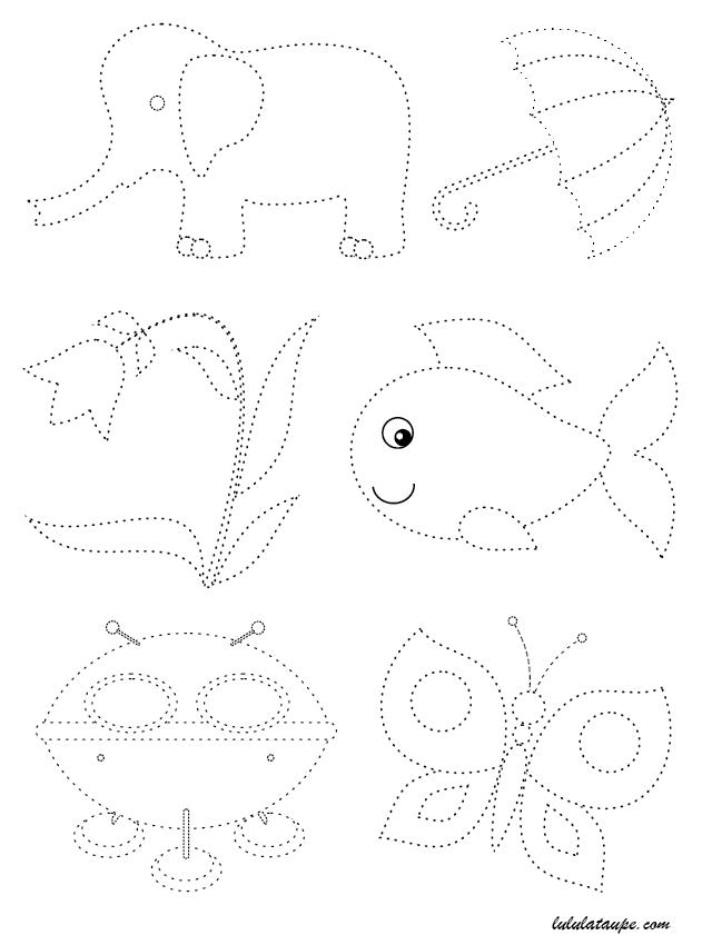 Extrêmement Graphisme, suivre des lignes pointillées - Lulu la taupe, jeux  JU56