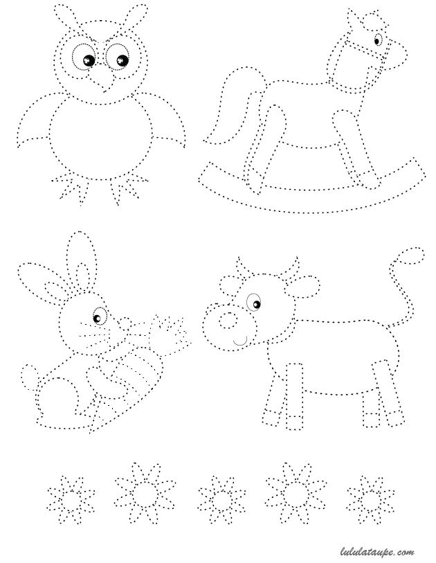 Extrêmement Fiche de graphisme à imprimer, les pointillés - Lulu la taupe  JU56