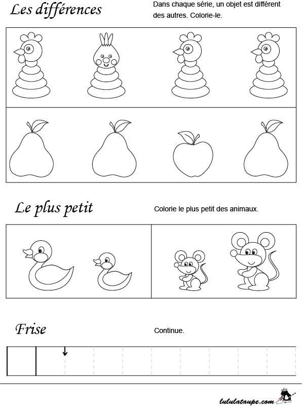 Top Fiche ludo-éducative, initiation aux mathématiques - Lulu la taupe  ZP62