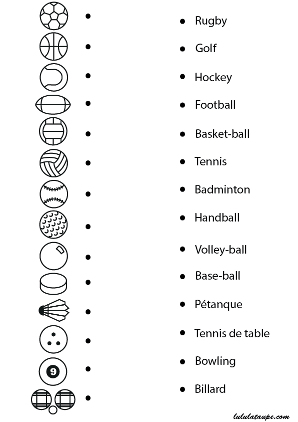 Exceptionnel Les sports ; exercice ludique à imprimer - Lulu la taupe, jeux  IT53