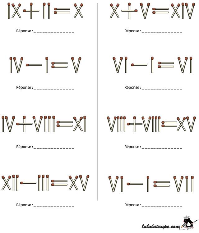 Exercice ludique gratuit les chiffres romains lulu la - Chiffre a imprimer gratuit ...