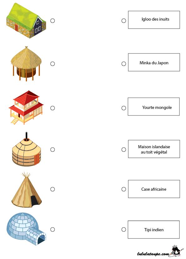 Les habitations traditionnelles du monde lulu la taupe for Les habitations du monde